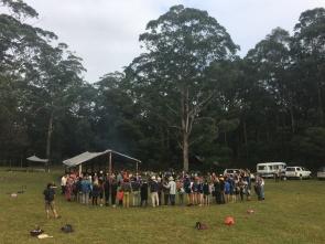 Village meeting (Bluegum Bushcraft)
