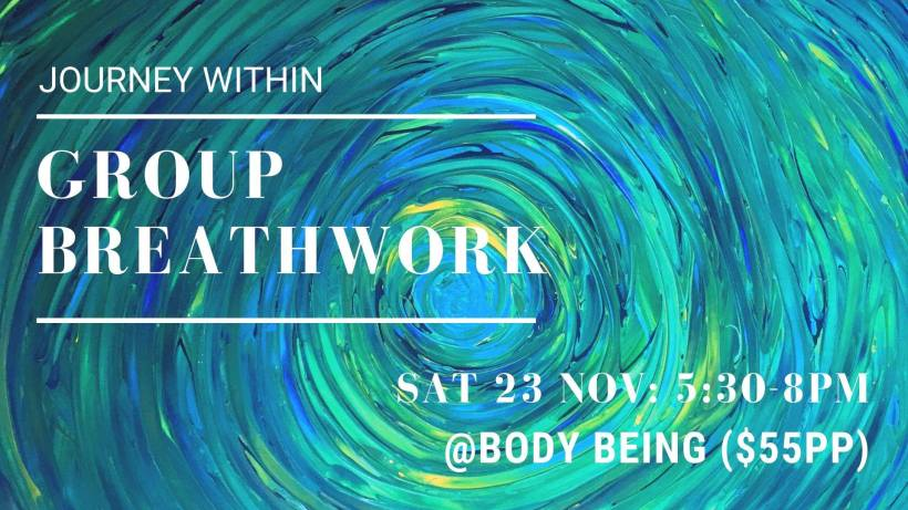 Breathwork event flyer - Nov 2019
