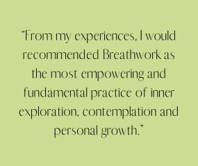 Breathwork client